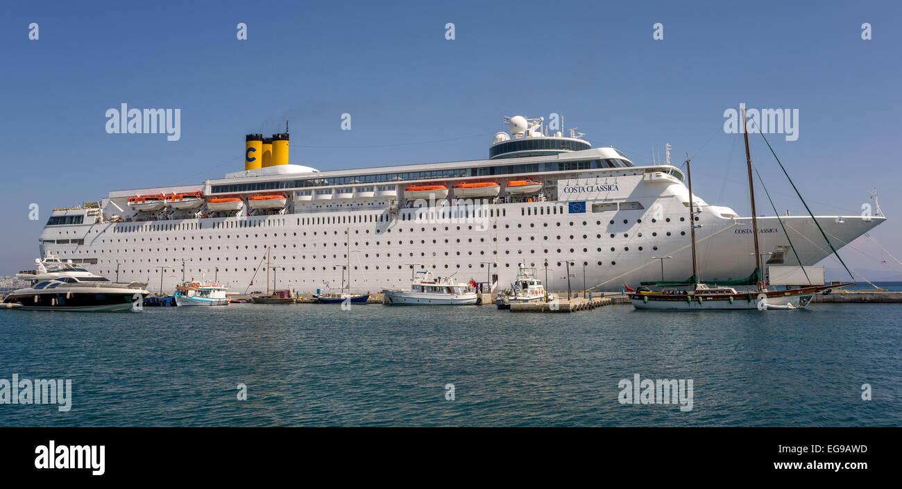 Big Cruise Ship In The Port Of Corfu Stock Photo Royalty Free - Big cruise ship
