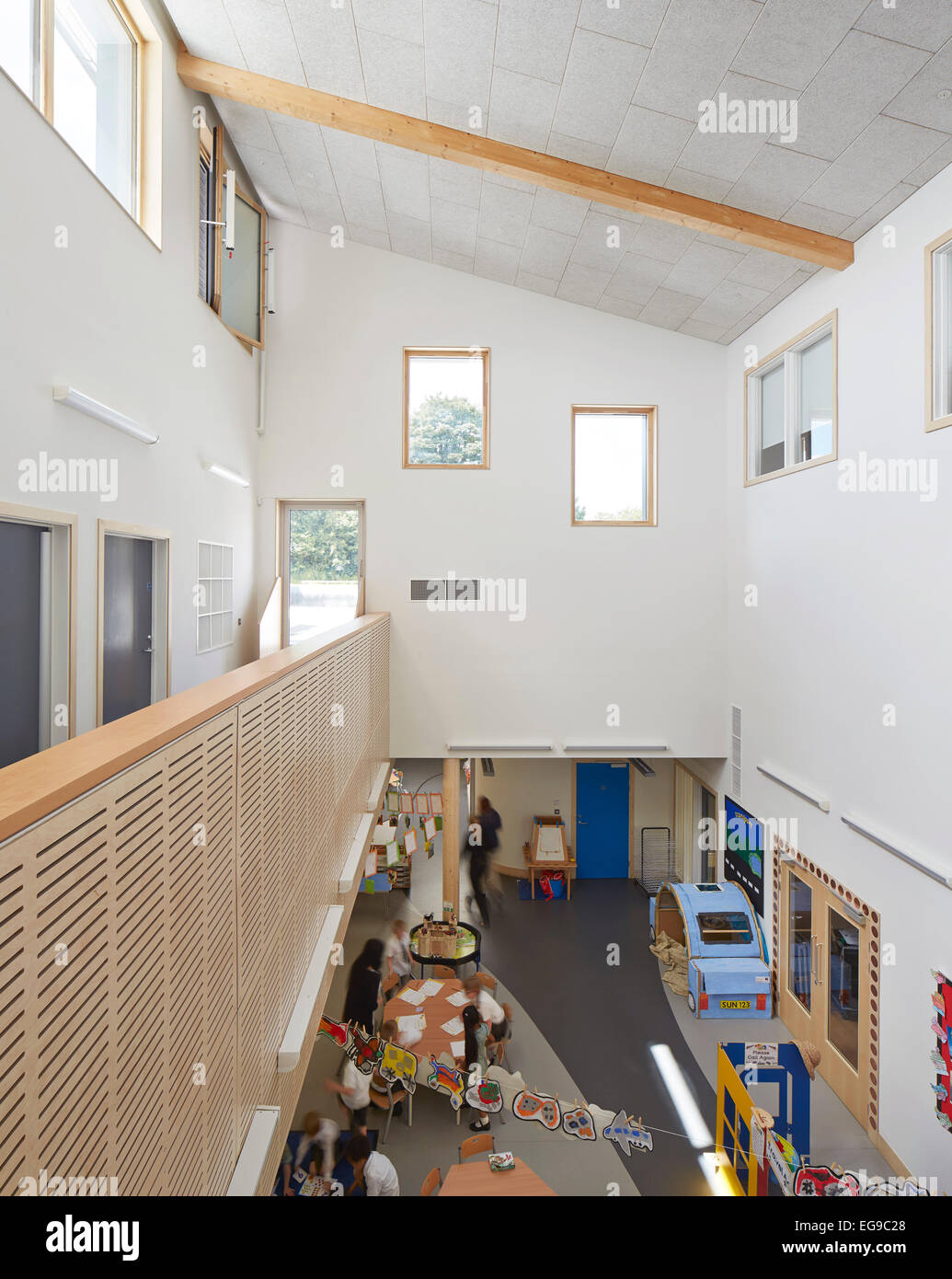 Wilkinson Primary School Wolverhampton United Kingdom Architect Architype Limited 2014 View Of First And Ground Floor With
