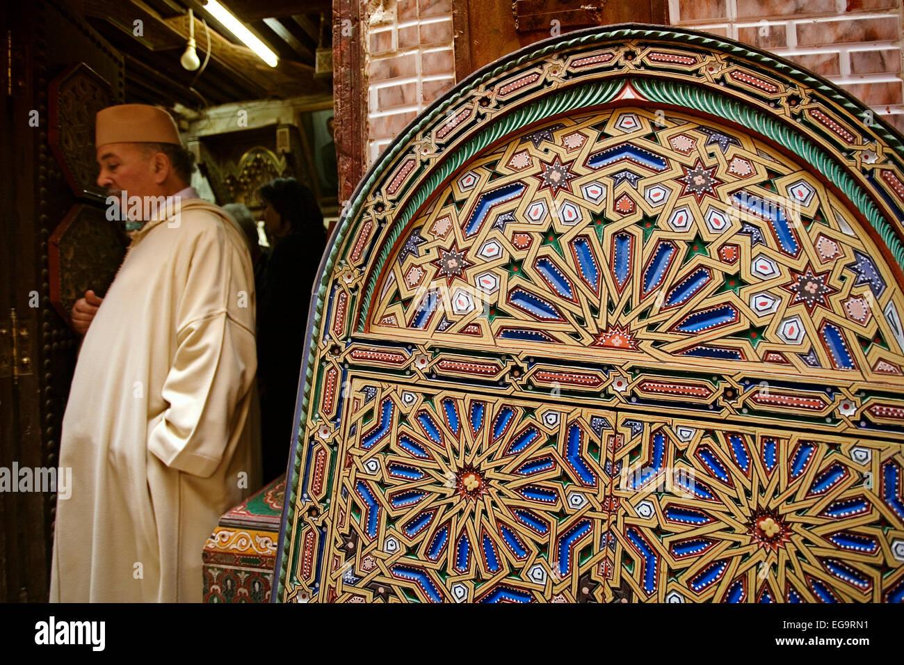 souk medina fez fes el bali morocco zoco de la medina de fez marruecos stock