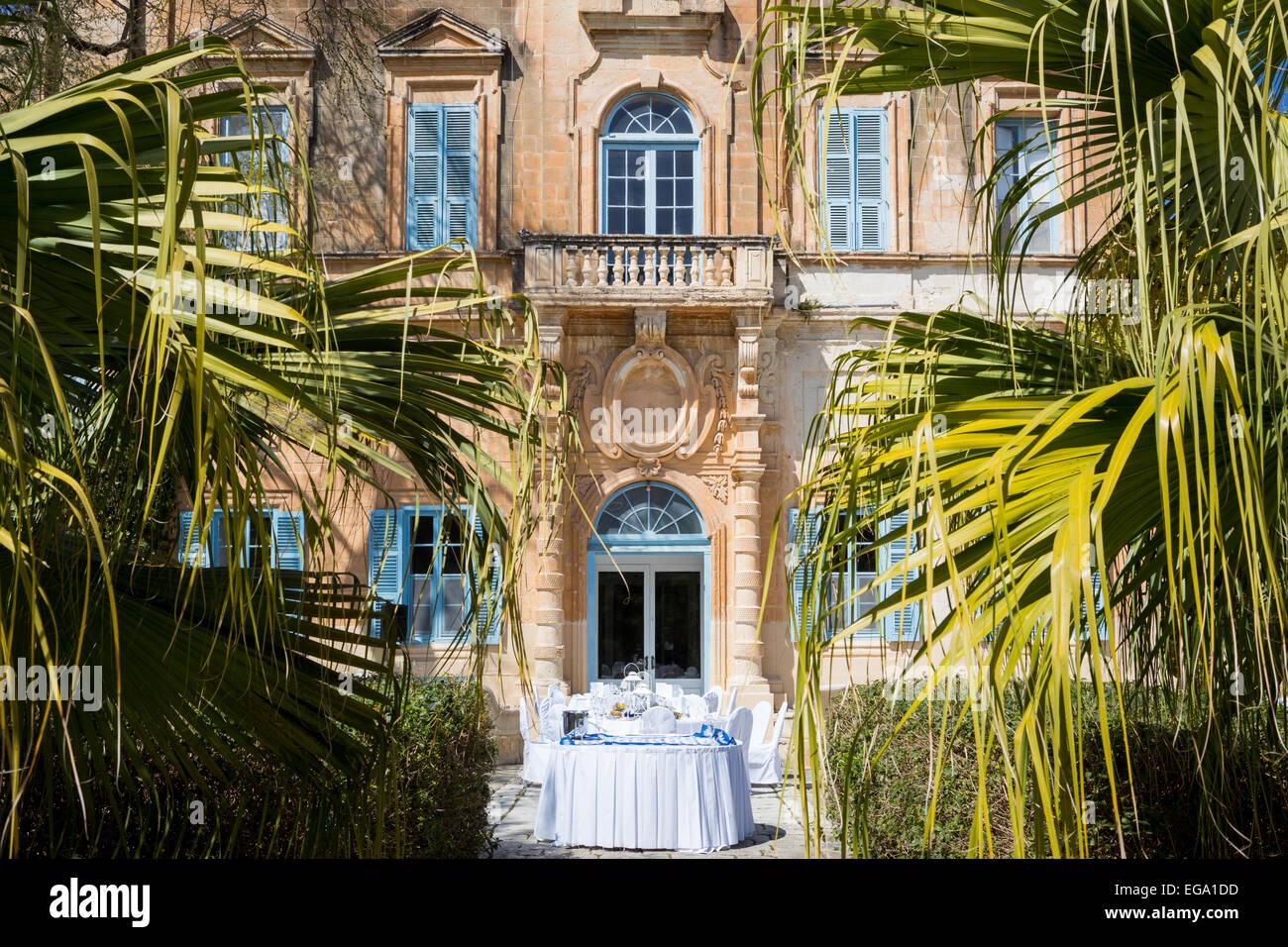 Wedding Venue Villa Bologna Attard Malta Stock Photo