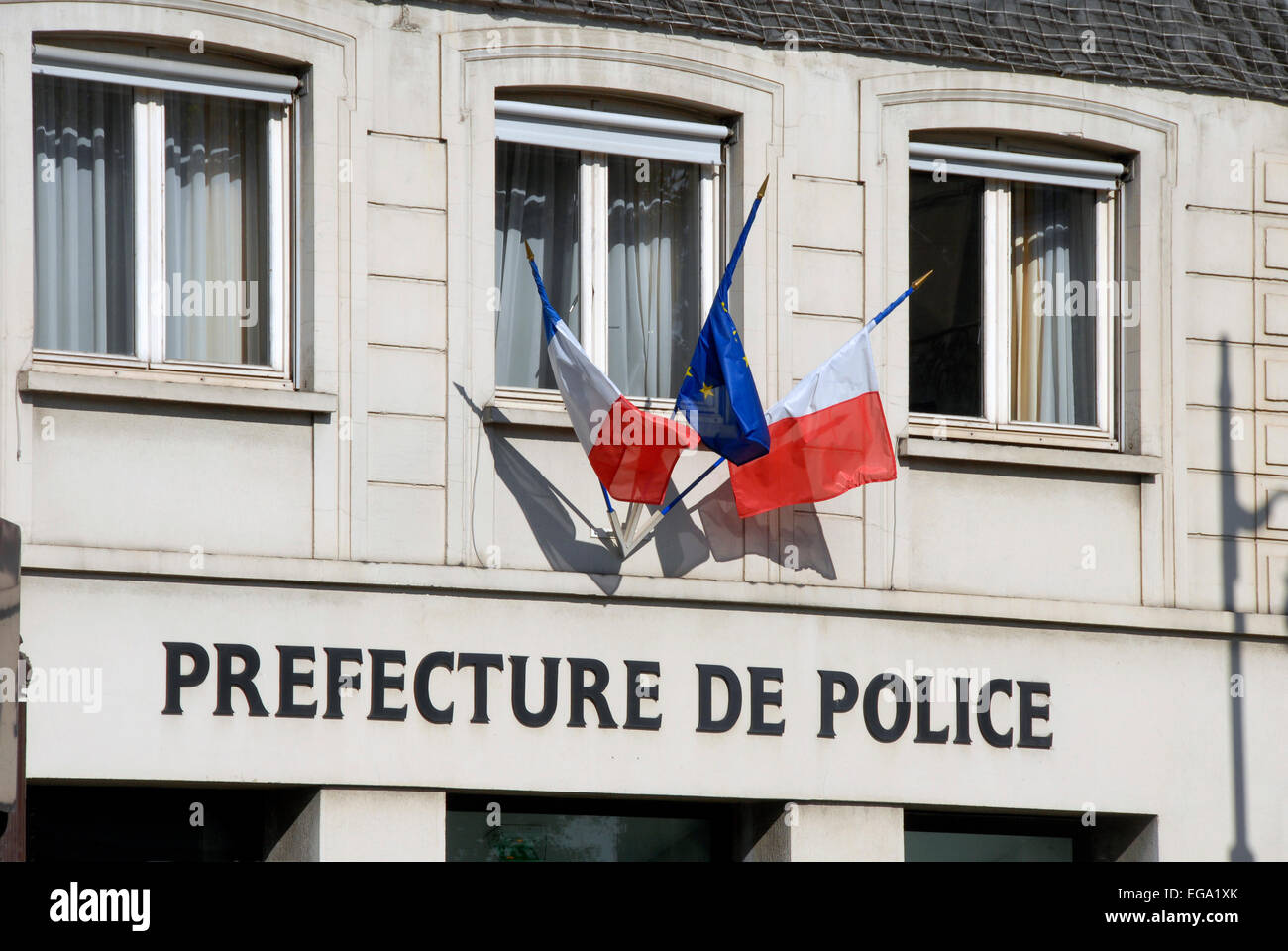 office of prefecture de police paris france stock photo. Black Bedroom Furniture Sets. Home Design Ideas