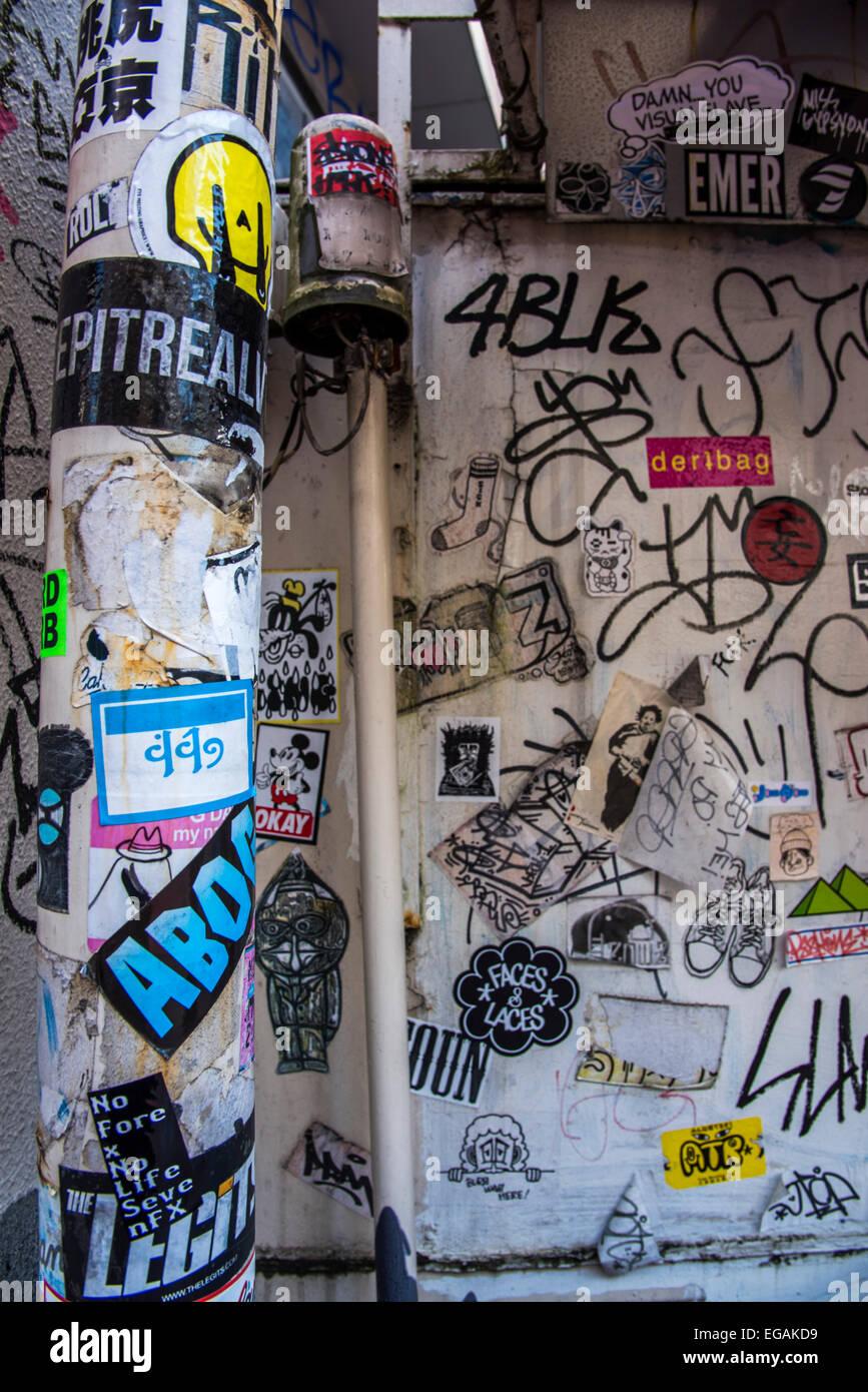 Graffiti wall tokyo - Graffiti Art Street Scene Shibuya Tokyo Japan