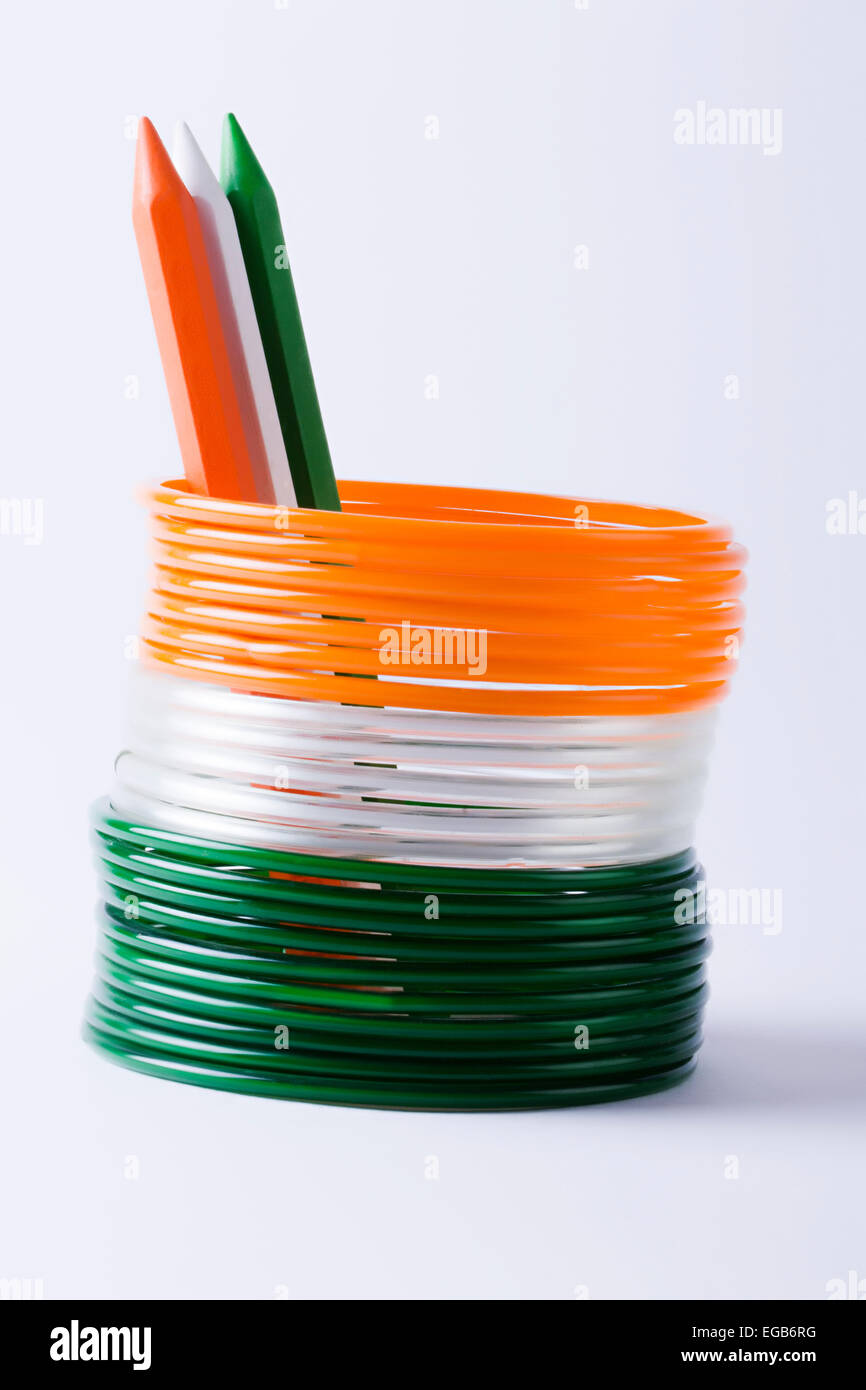 Flag Color Bangles Stand Arranging Pencil Stock Photo: 78922804 ...
