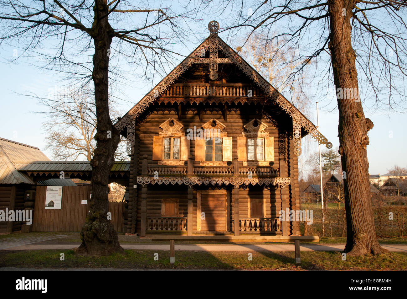 historic russian style dacha in alexandrowka russian colony in stock photo 78933249 alamy. Black Bedroom Furniture Sets. Home Design Ideas