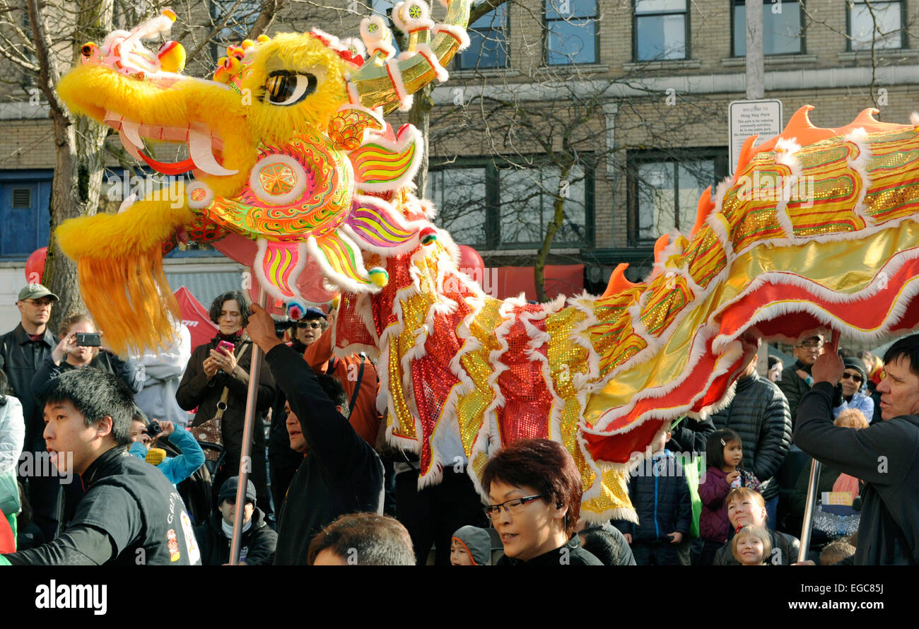 dragon dance chinese lunar new year celebrations seattle chinatown february 21 2015 - Chinese Lunar New Year 2015