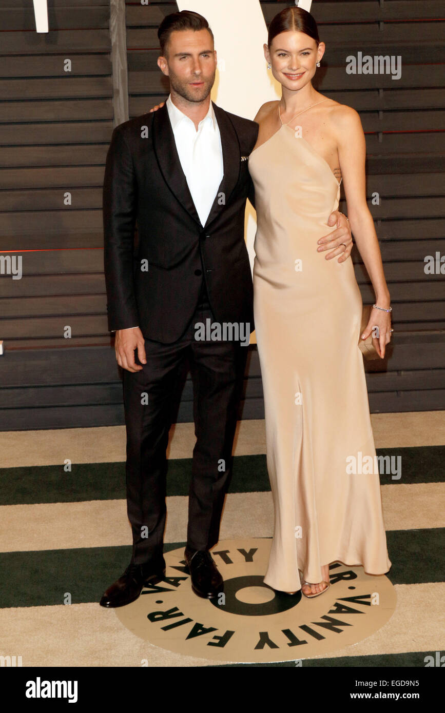 Singer Adam Levine And Model Behati Prinsloo Attend The Vanity Fair Oscar  Party At Wallis Annenberg Center For The Performing Arts In Beverly Hills,  ...