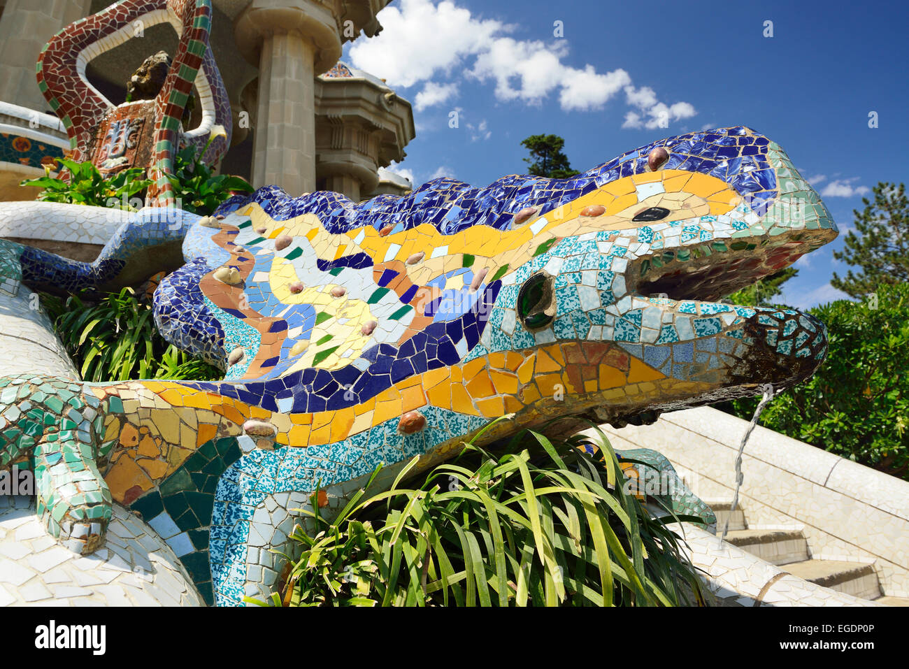 Mosaic Salamander Known As The Dragon Park Guell Architect