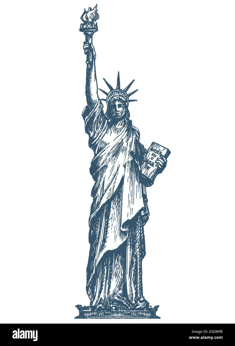 statue of liberty drawing template - usa logo design template united states or statue of