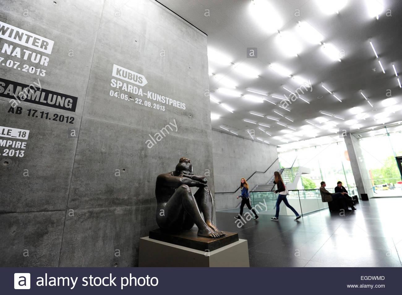 Sculpture in the foyer of the kunstmuseum stuttgart, modern stock ...