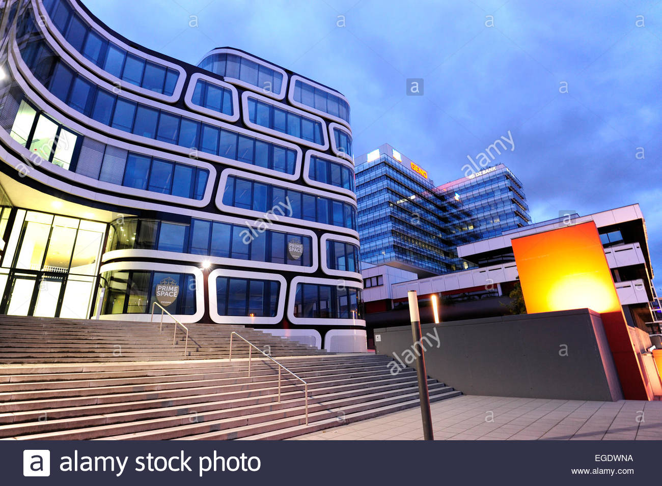 modern architecture in front of the stuttgart 21 development area stock photo royalty free. Black Bedroom Furniture Sets. Home Design Ideas