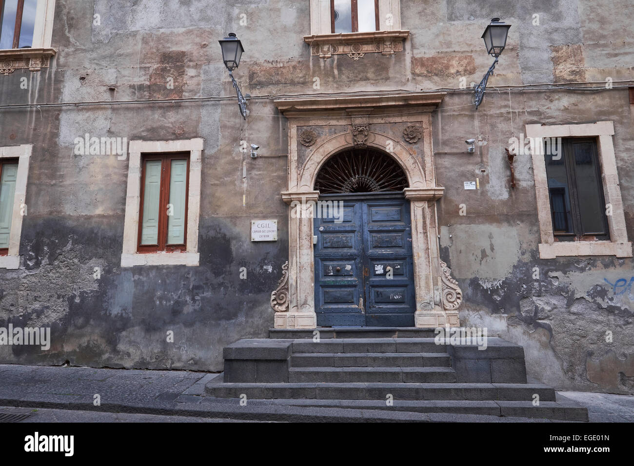 Old Rustic Building Architecture In Catania Sicily Italy