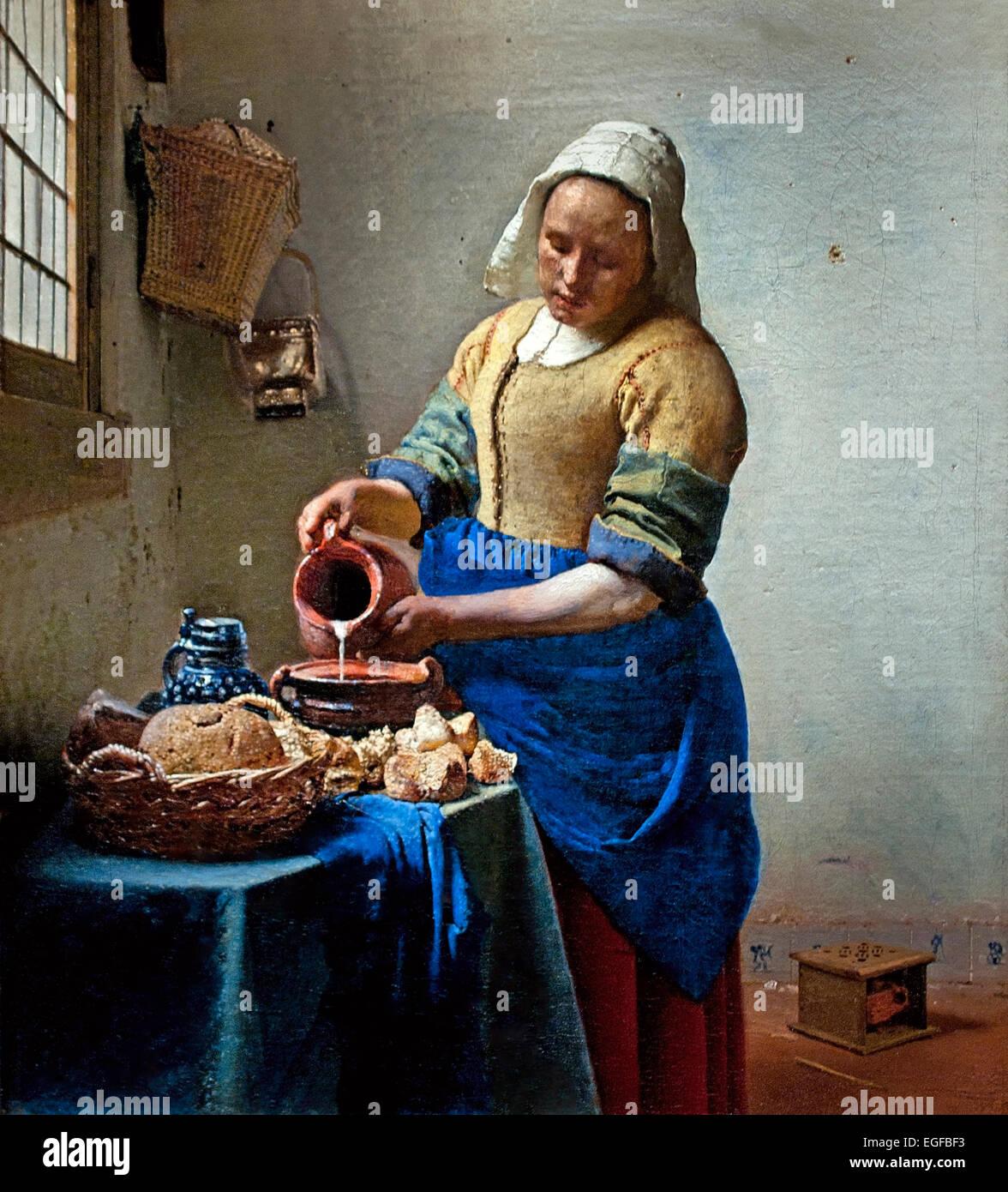 The Kitchen Maid Milkmaid - Het melkmeisje (1658-1660 ...