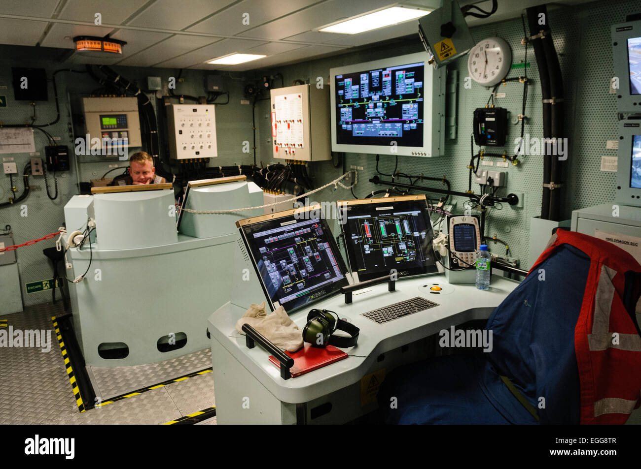 Engineering Control Room In Hms Dragon A Type 45