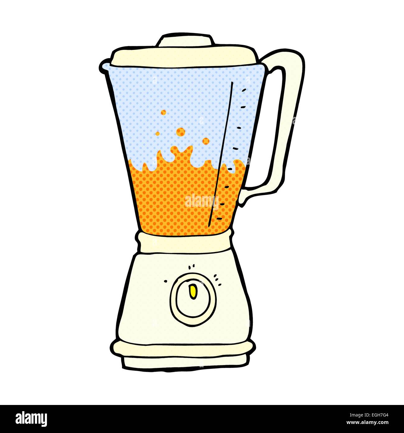 Cartoon Food Processor ~ Cartoon juice blender stock vector art illustration