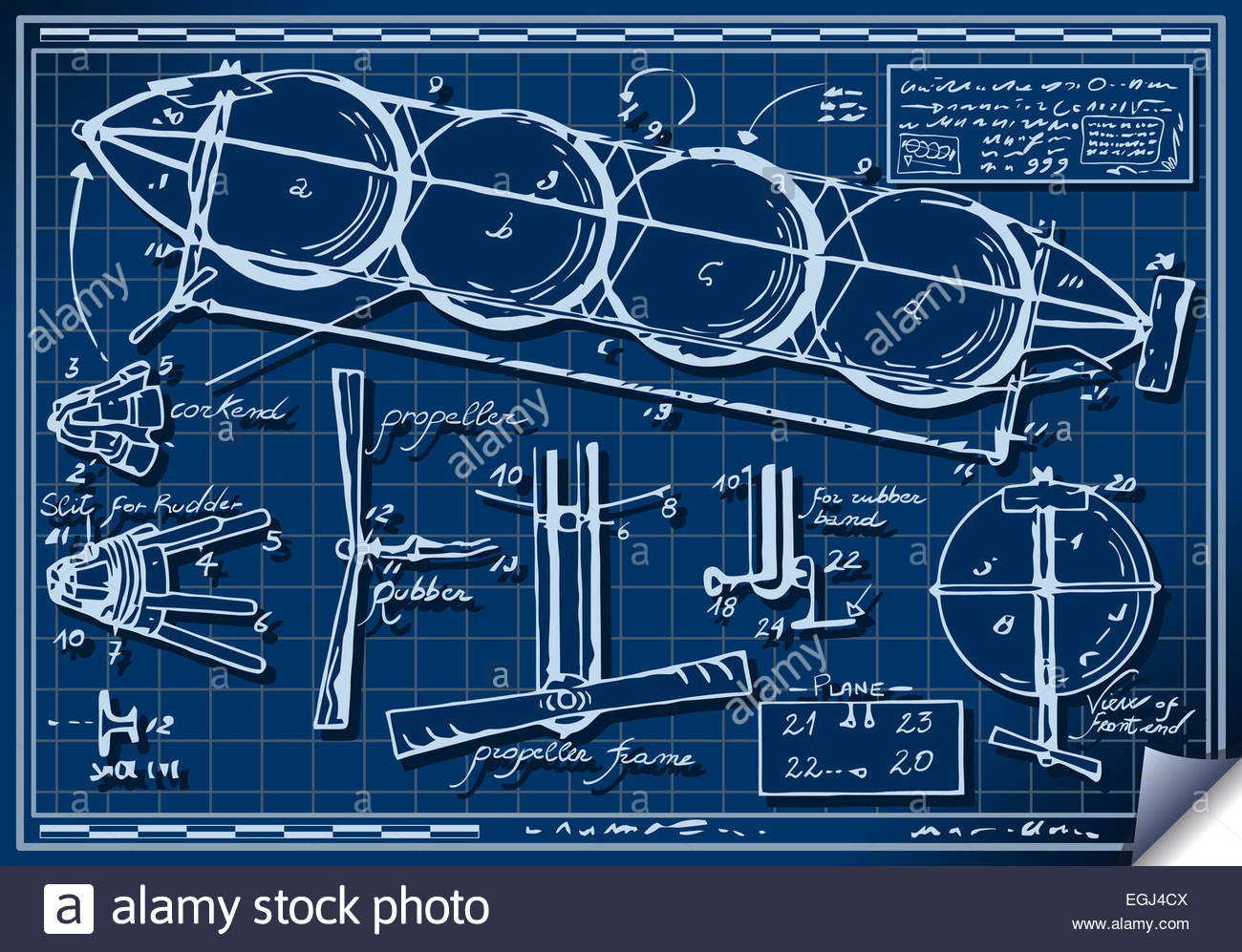 Detailed illustration of a vintage kids plane project on blueprint detailed illustration of a vintage kids plane project on blueprint this illustration is saved in eps10 with color space in rgb malvernweather Images