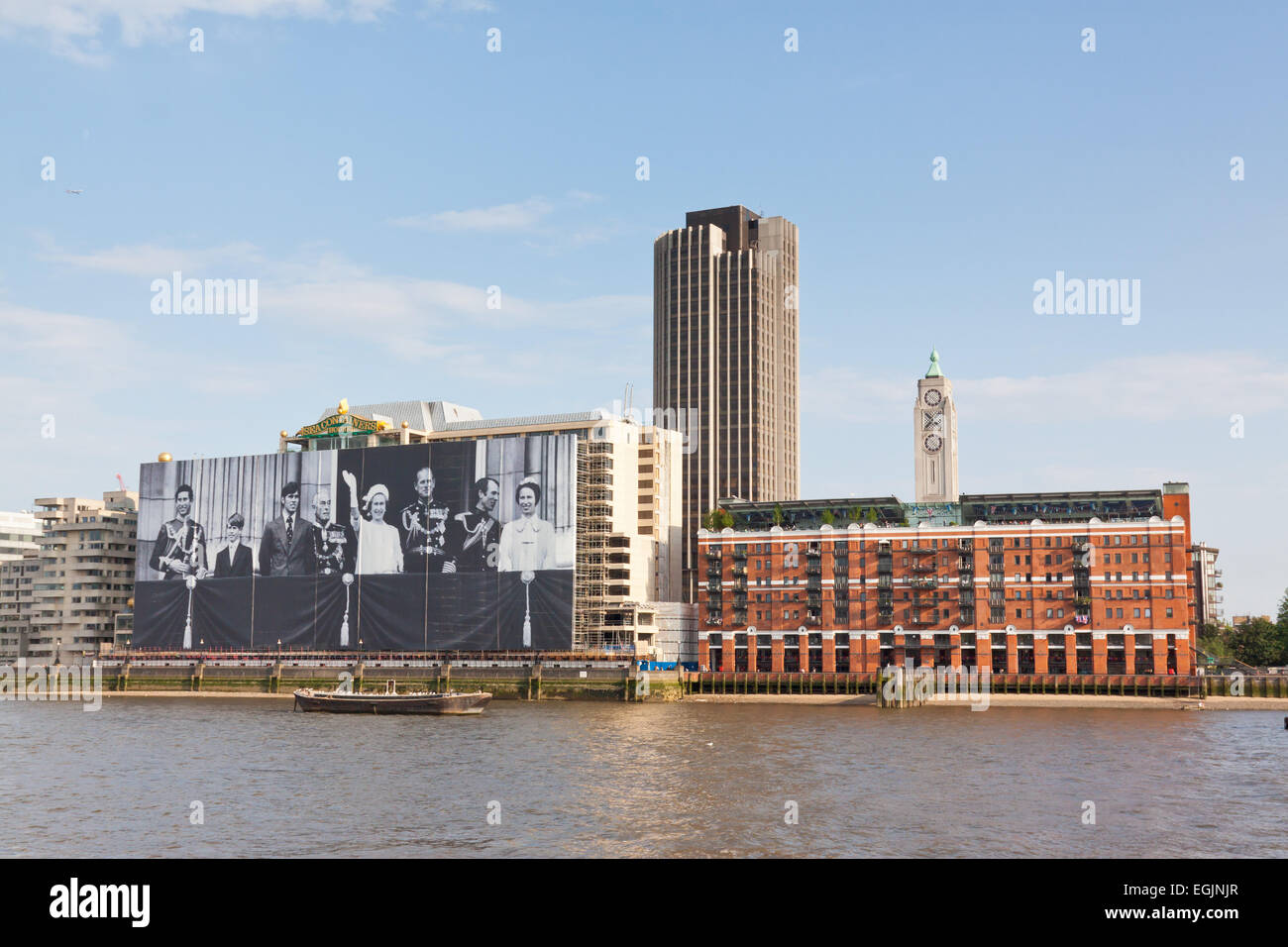 Sea containers house and Oxo Tower on the River Thames London ...