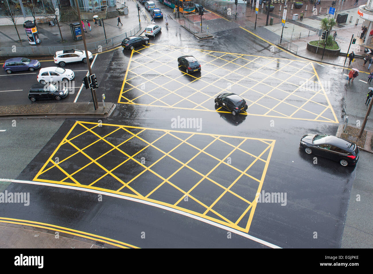 Cars In A Yellow Box