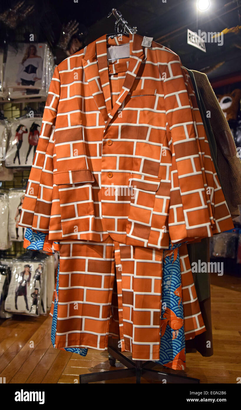 a long sleeve brick wall suit for sale at a large costume store in greenwich village nyc called the halloween adventure - Halloween Adventure Store