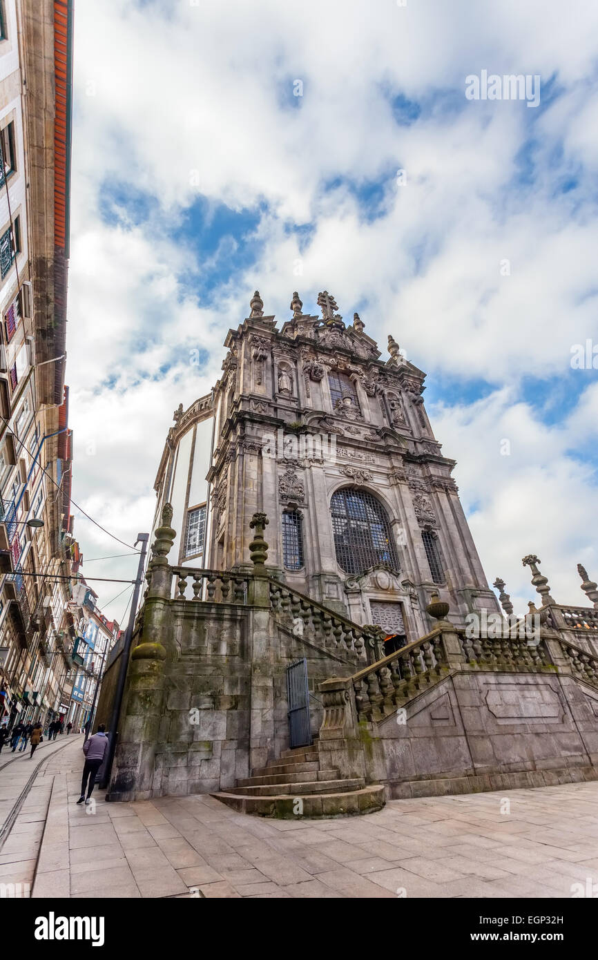Porto, Oporto, Portugal. The Church Of Clerigos, Which Is Attached To The  Iconic Clerigos Tower, One Of The Landmarks And Symbols Of The City. Home Design Ideas