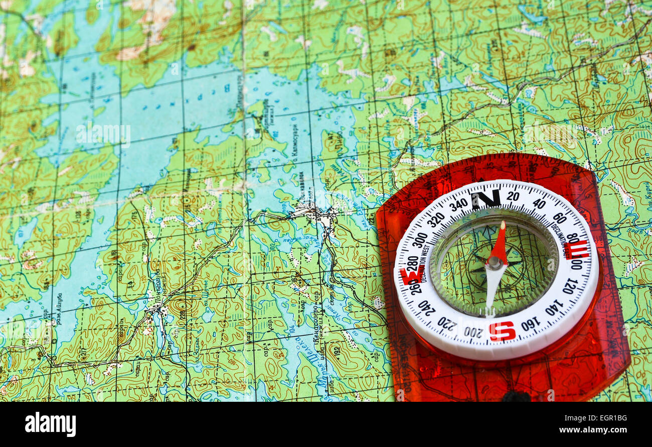 The magnetic compass and topographic map travel compass and map the magnetic compass and topographic map travel compass and map symbols adventures buycottarizona Image collections