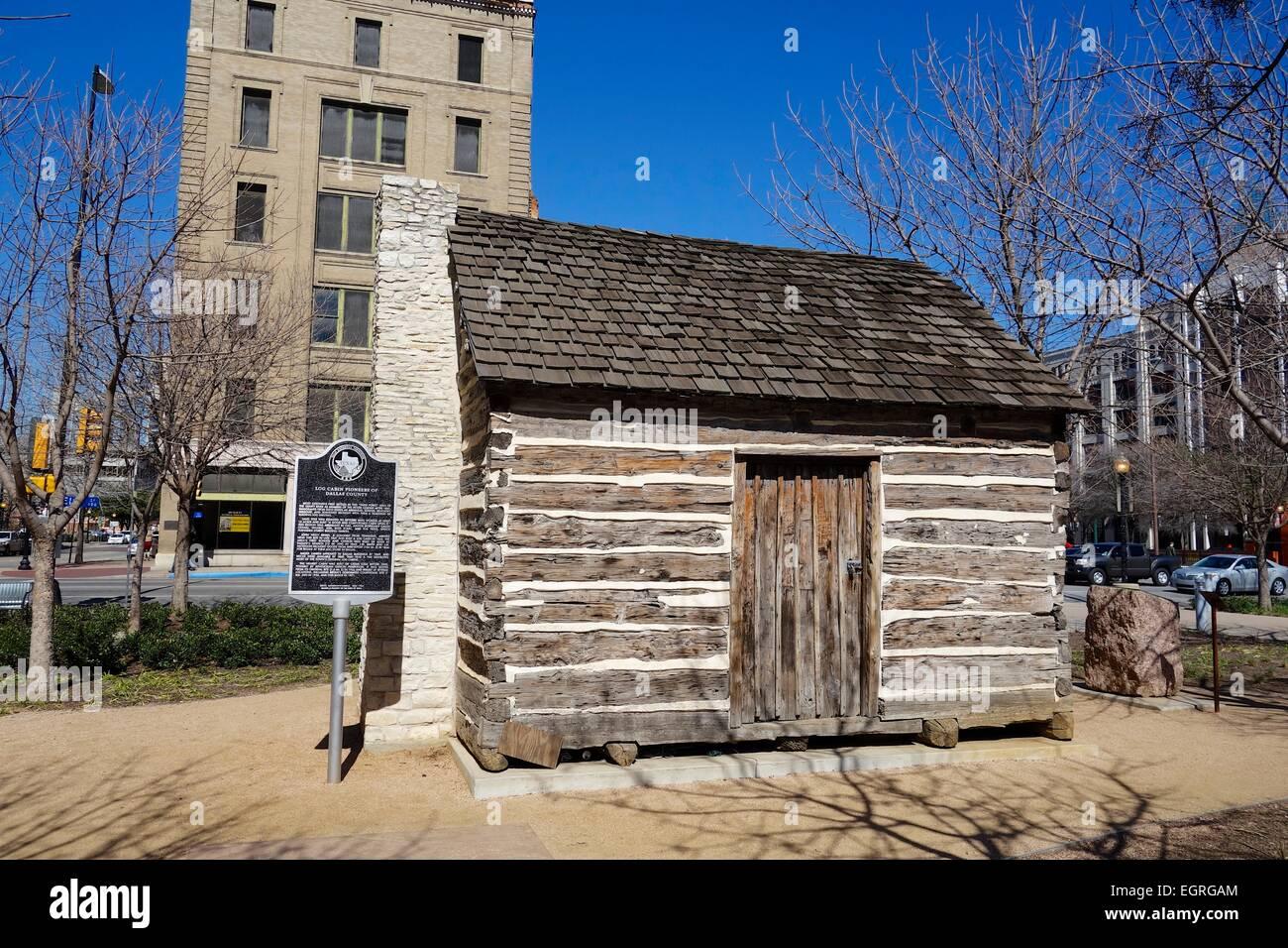 Pioneer Log Cabin. Dallas, Texas