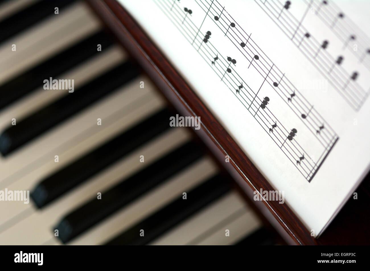 Piano Music Notes Close Up Of A Piano Musical Notes And Symbols