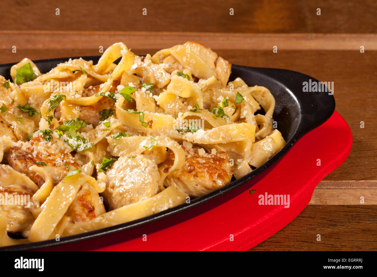 Pasta chicken meat food plate red cooked sauce cuisine italian ...