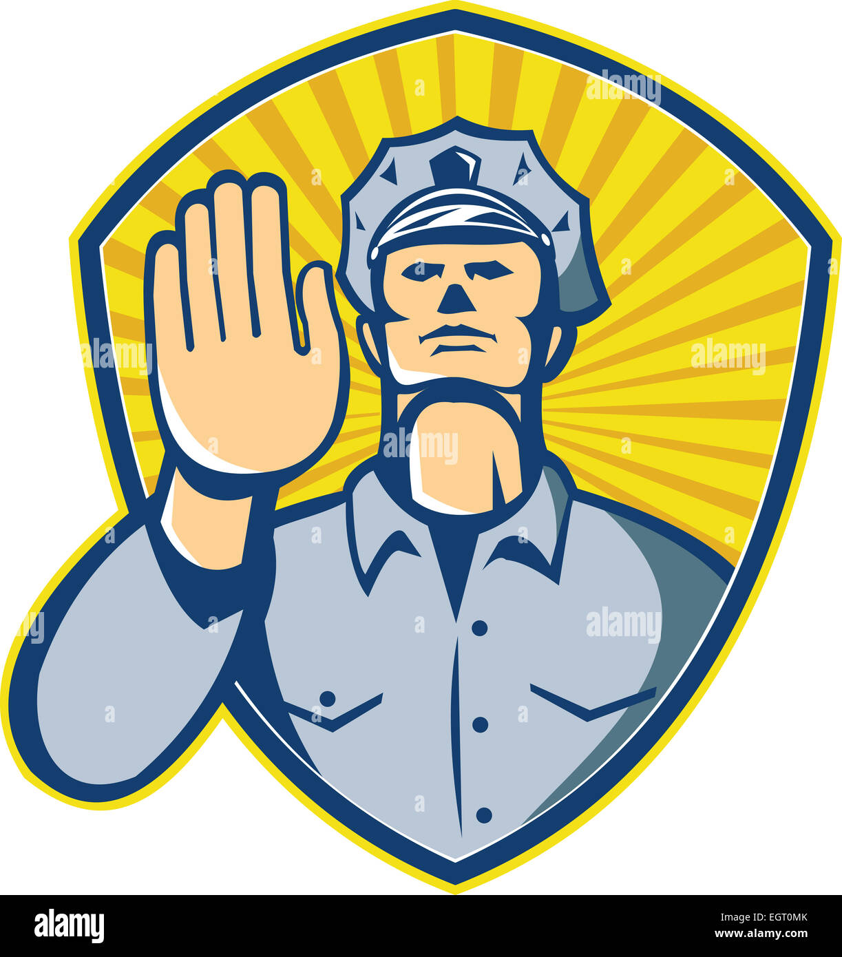 illustration of a policeman police law enforcement officer with