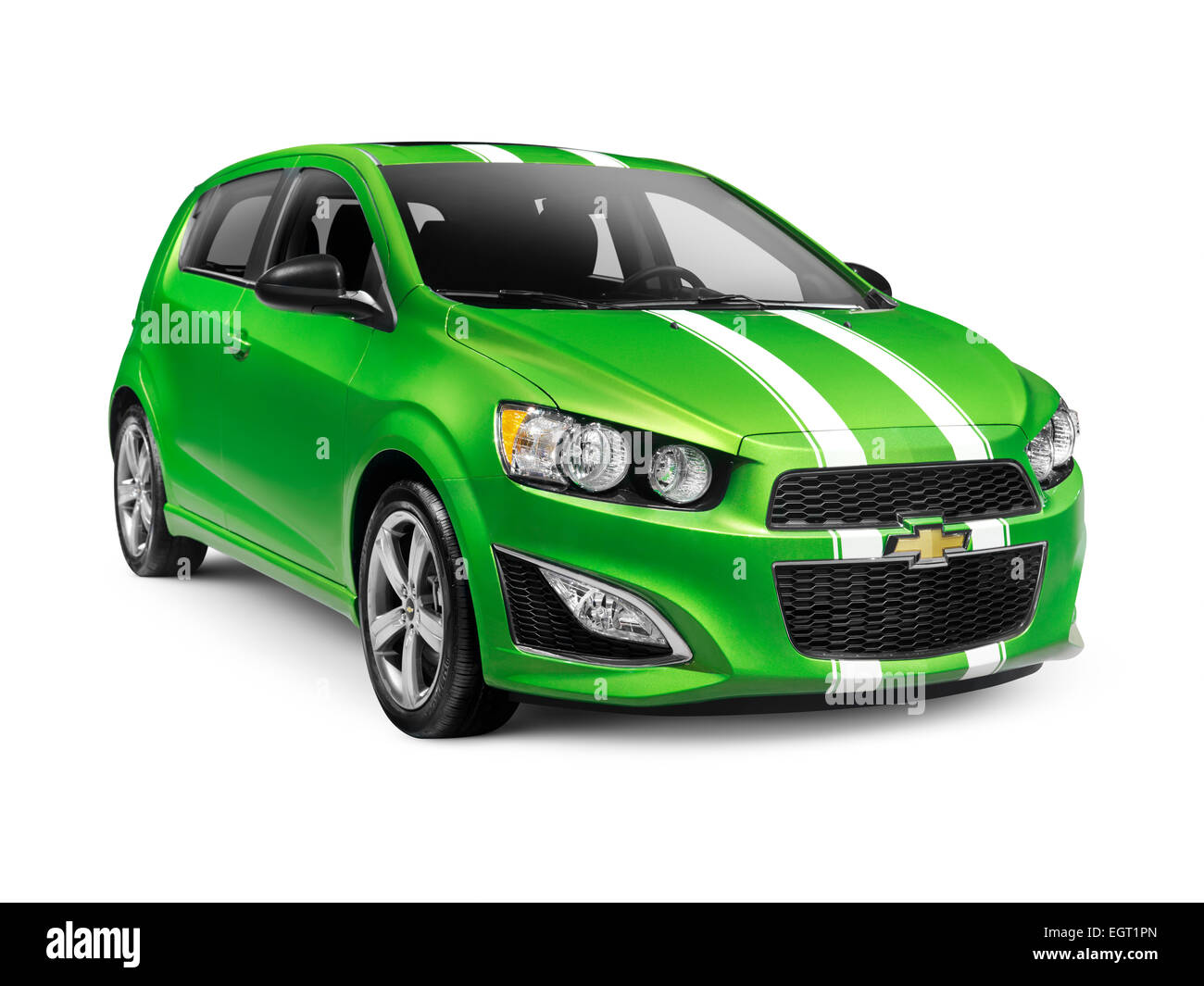 green 2015 chevrolet sonic rs small car isolated on white background stock photo 79204237 alamy. Black Bedroom Furniture Sets. Home Design Ideas