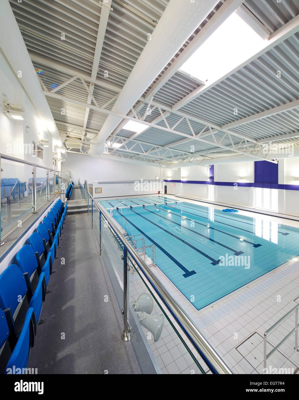 Swimming Pool In Leisure Centre By Wates Construction For John Laing Stock Photo Royalty Free
