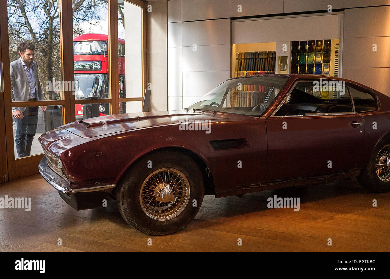 London UK 02nd Mar 2015 1972 Aston Martin DBS Last Produced Barn Find With 40000 Miles On The Odometer To Be Auctioned By Coys At Royal