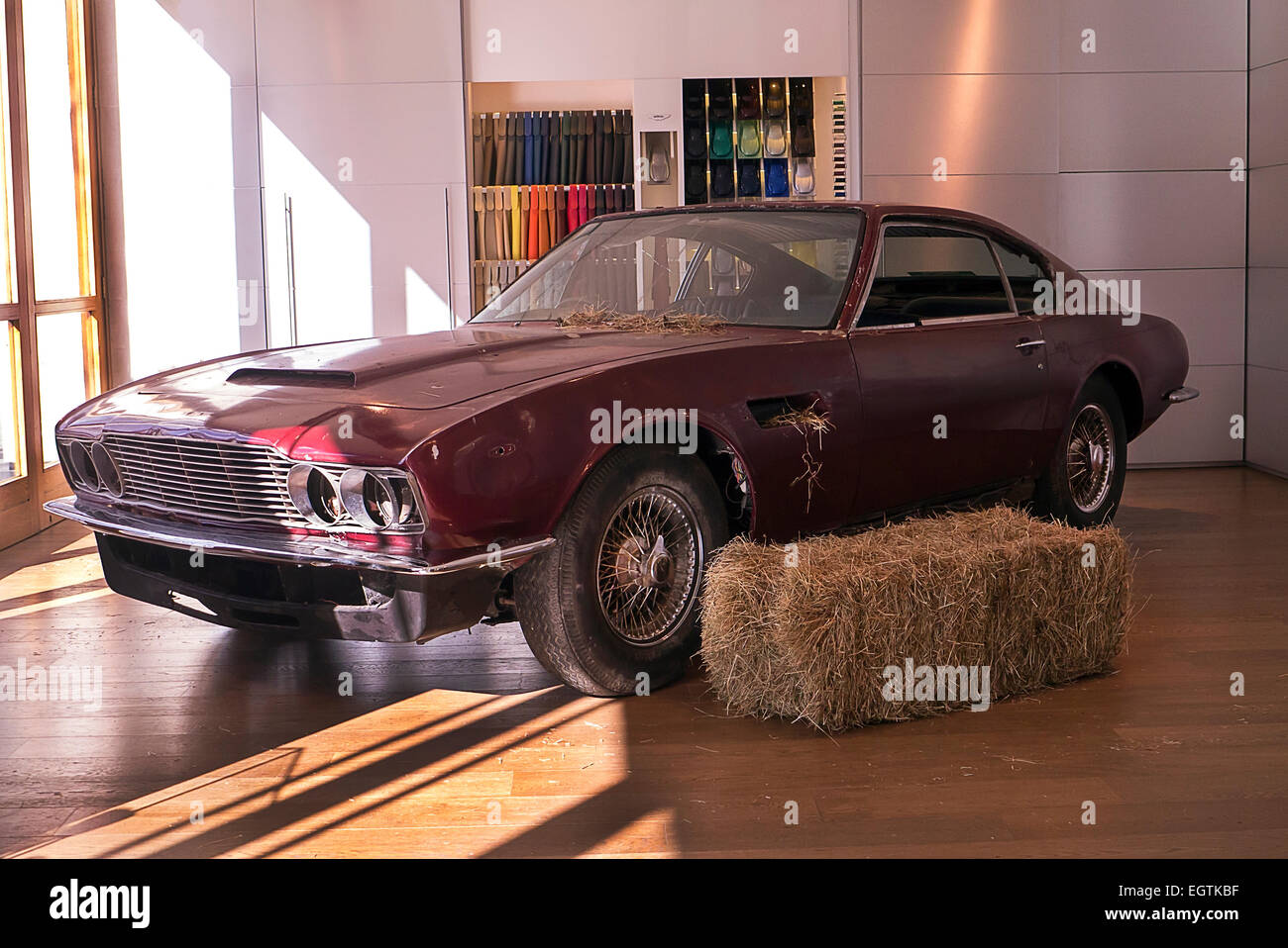 London UK 02nd Mar 2015 1972 Aston Martin DBS Last Car Of The Model Produced Barn Find With 40000 Miles On Odometer To Be Auctioned By Coys At
