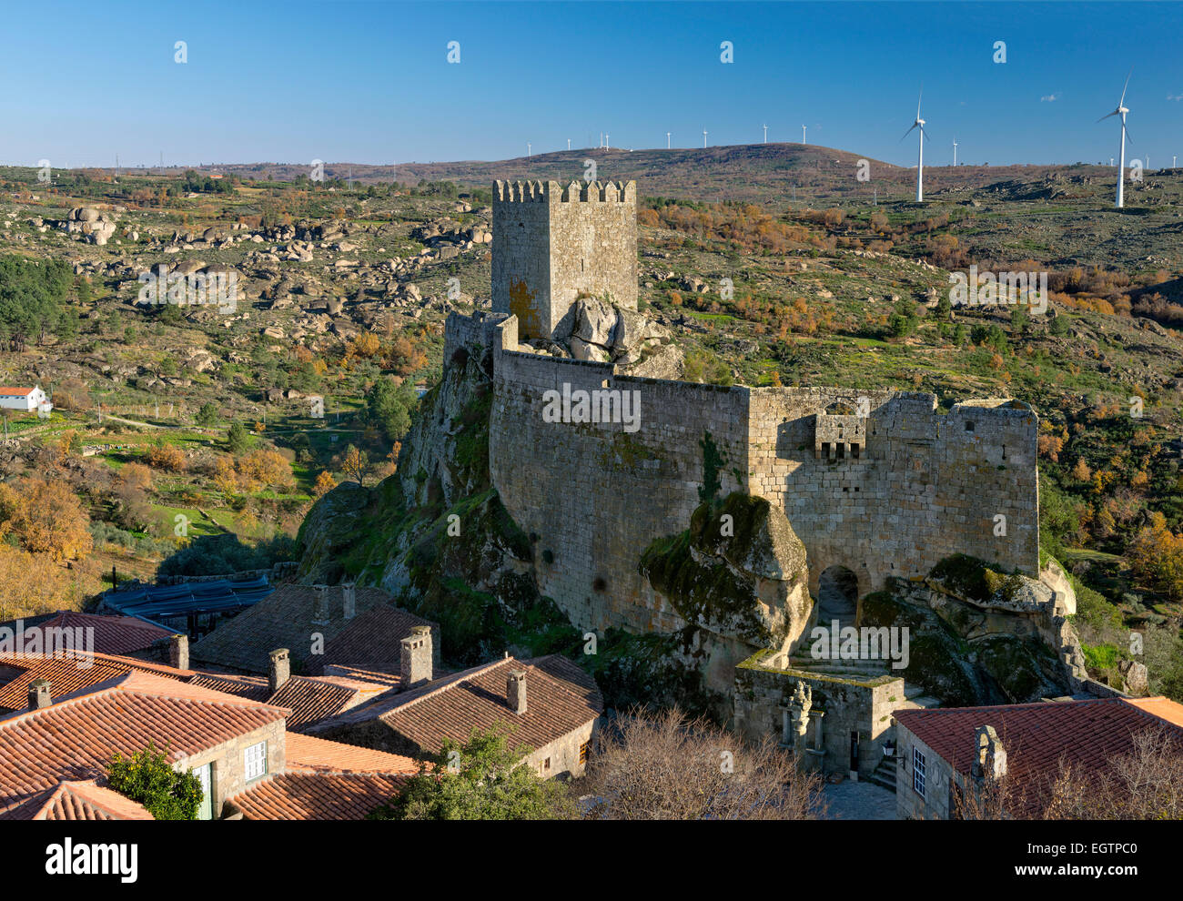 Portugal, Beira Alta, the medieval castle of Sortelha Stock Photo, Royalty Free Image 79220400
