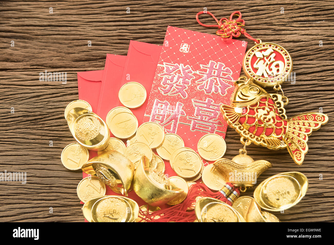 Chinese new year festival decorations ang pow or red for Ang pow packet decoration