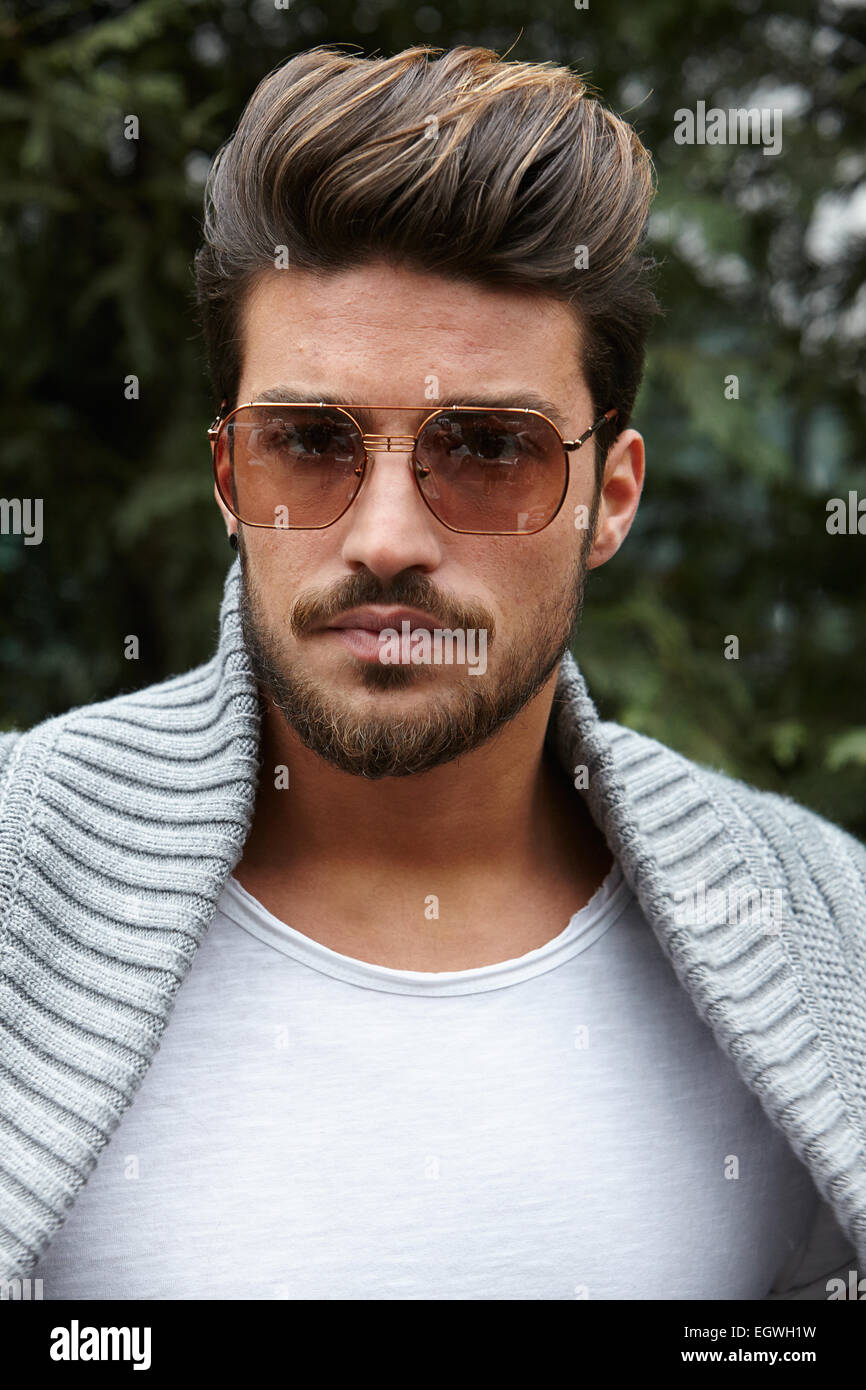 Milan February 27 Mariano Di Vaio Poses For