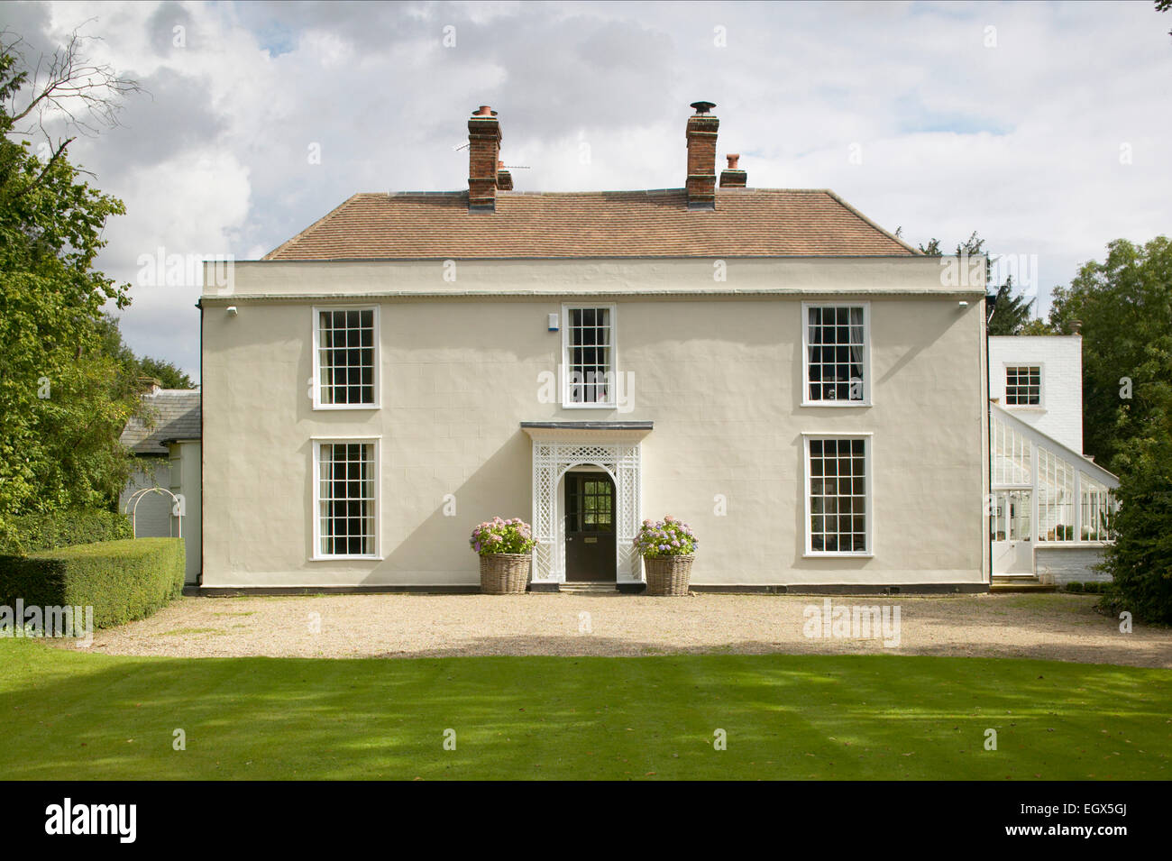 Front exterior of georgian country house stock photo for Country house online