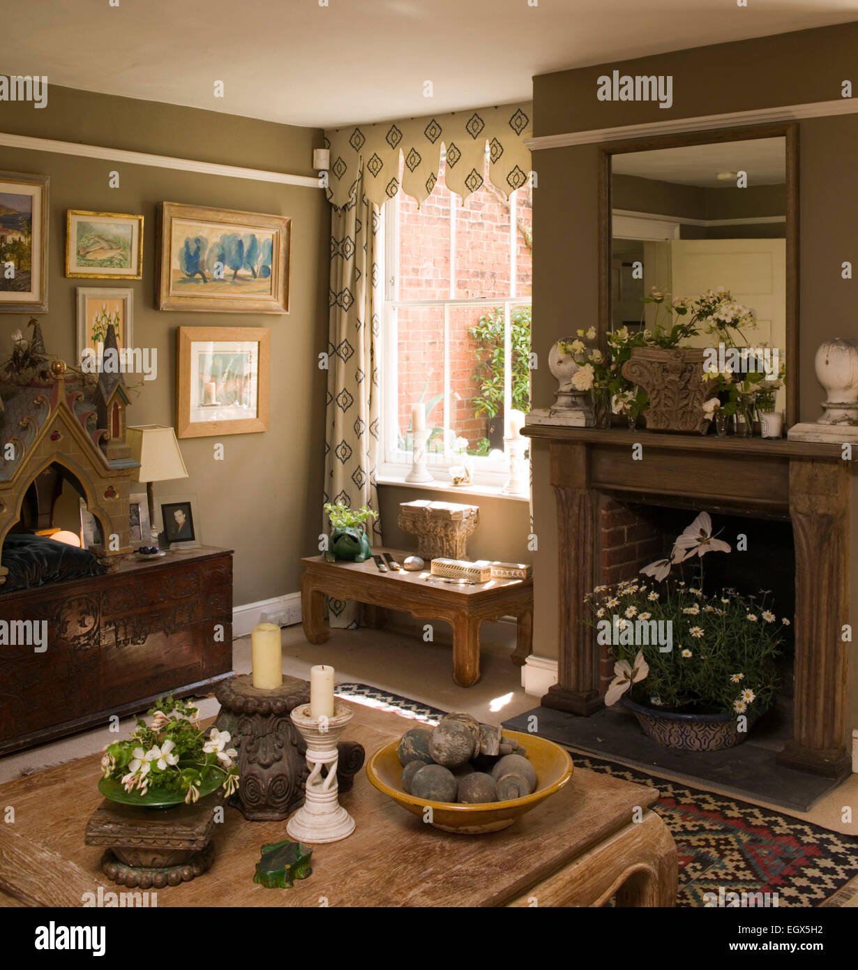 interiors living rooms fireplace traditional stock photos