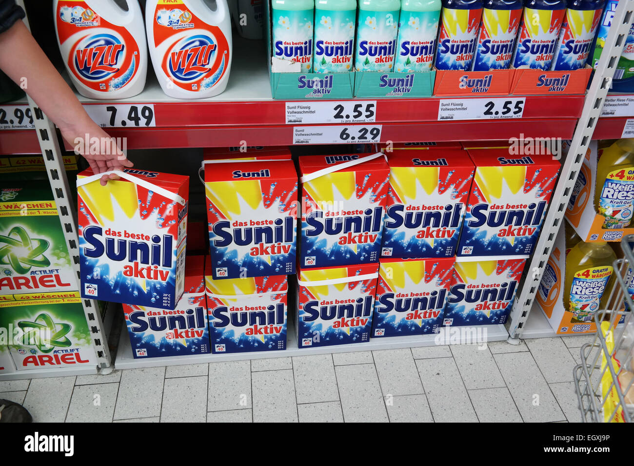 Product of the unilever stock photos product of the unilever germany february 2015 sunil a detergents for clothes cleaning a unilever brand in a biocorpaavc Images