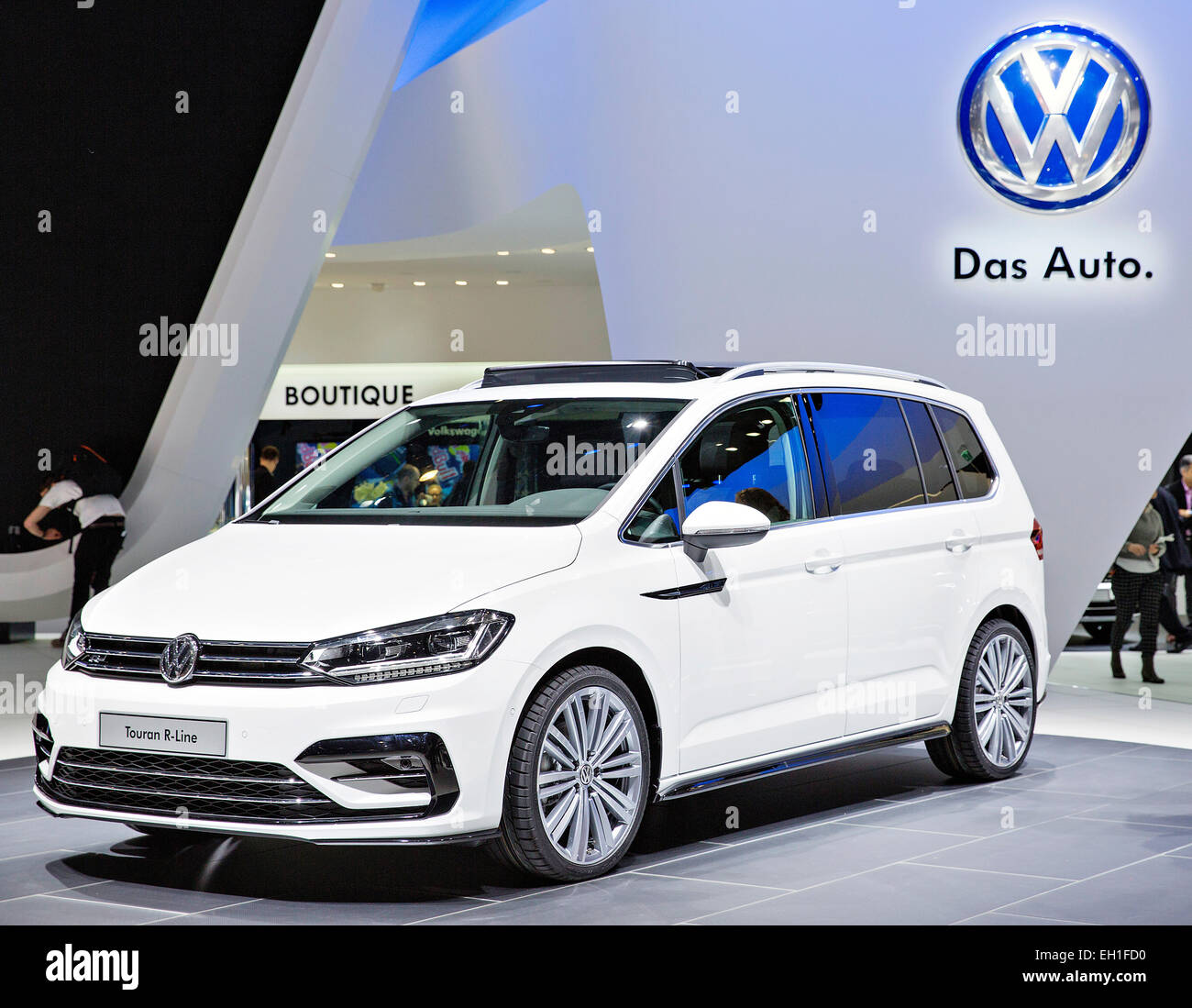 volkswagen touran r line stock photo royalty free image. Black Bedroom Furniture Sets. Home Design Ideas