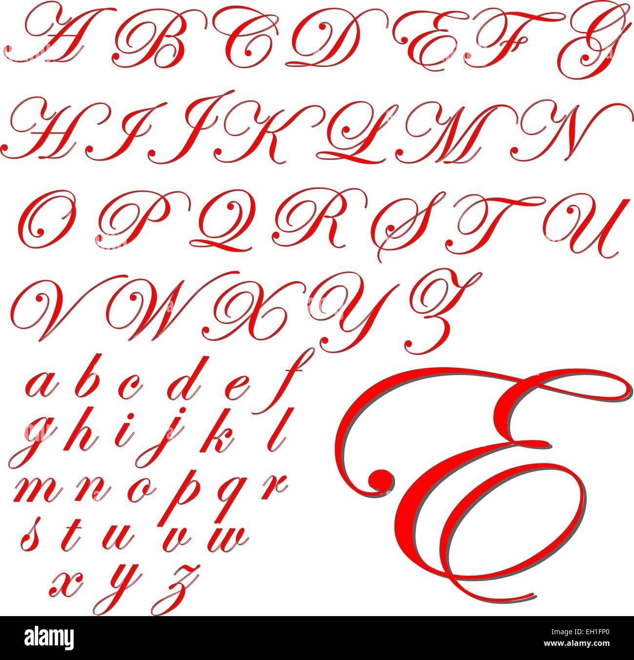 abc alphabet lettering design set