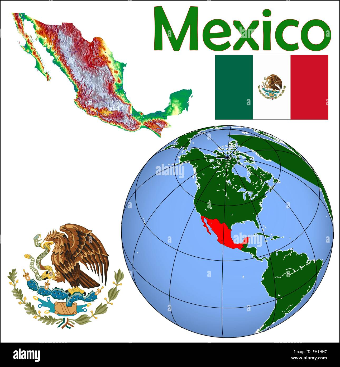 Map Of Mexico City Stock Photos Map Of Mexico City Stock Images - Where is mexico