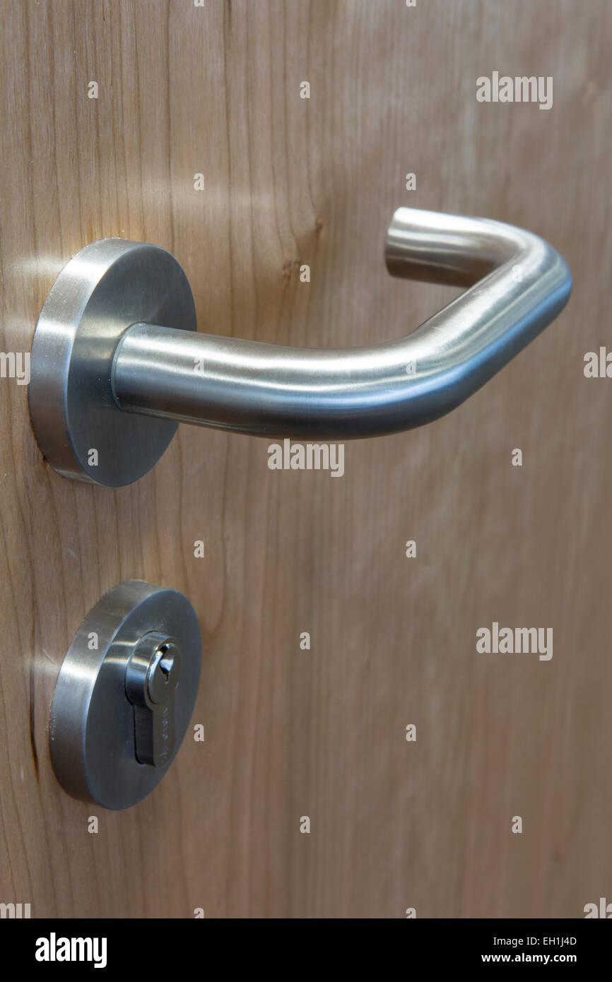 Boardroom door handle in a modern office interior stock