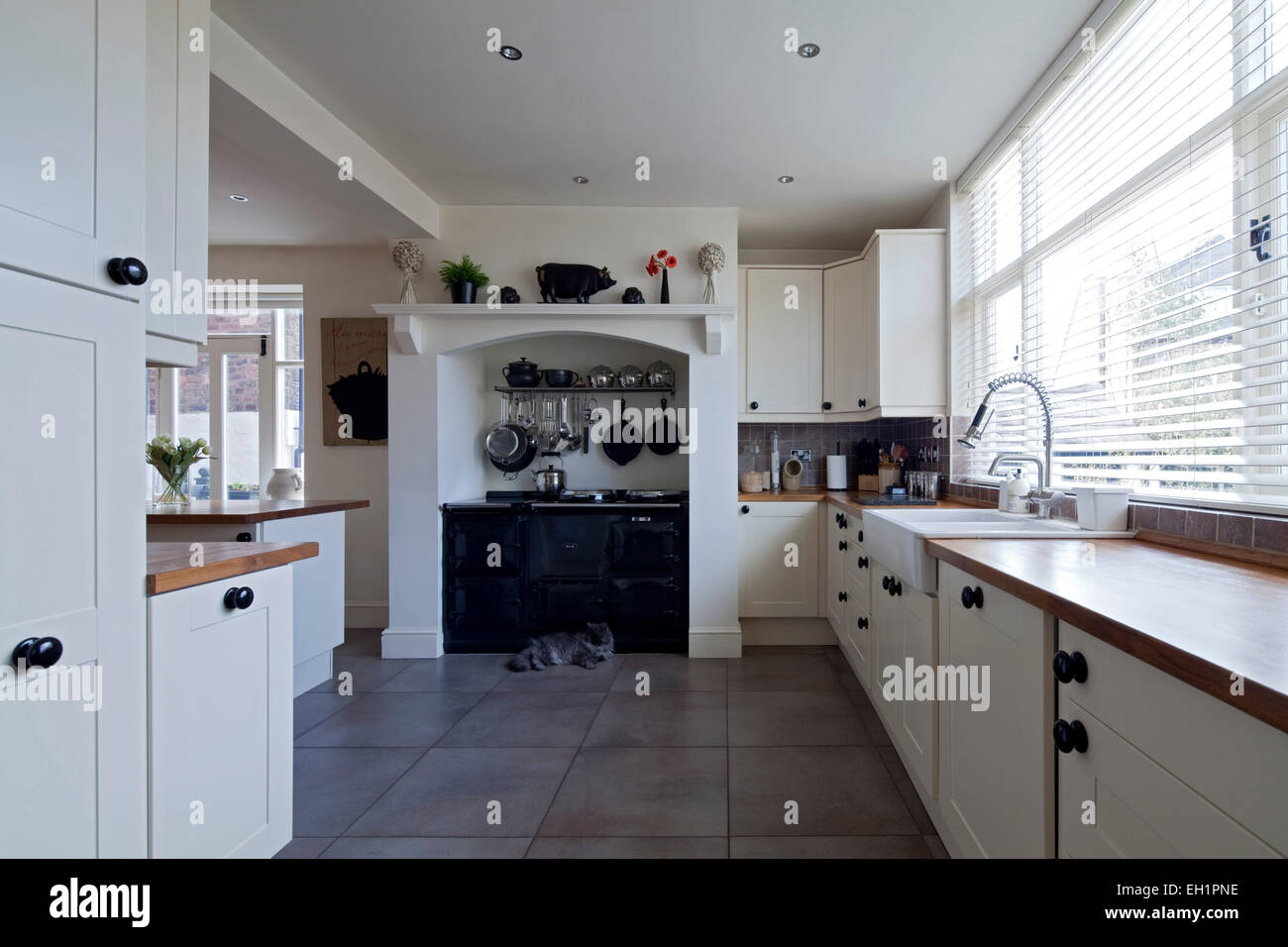 Modern Country Style Kitchen Cabinets Pictures Gallery Modern Country Style Kitchen In Macclesfield Townhouse Cheshire Stock