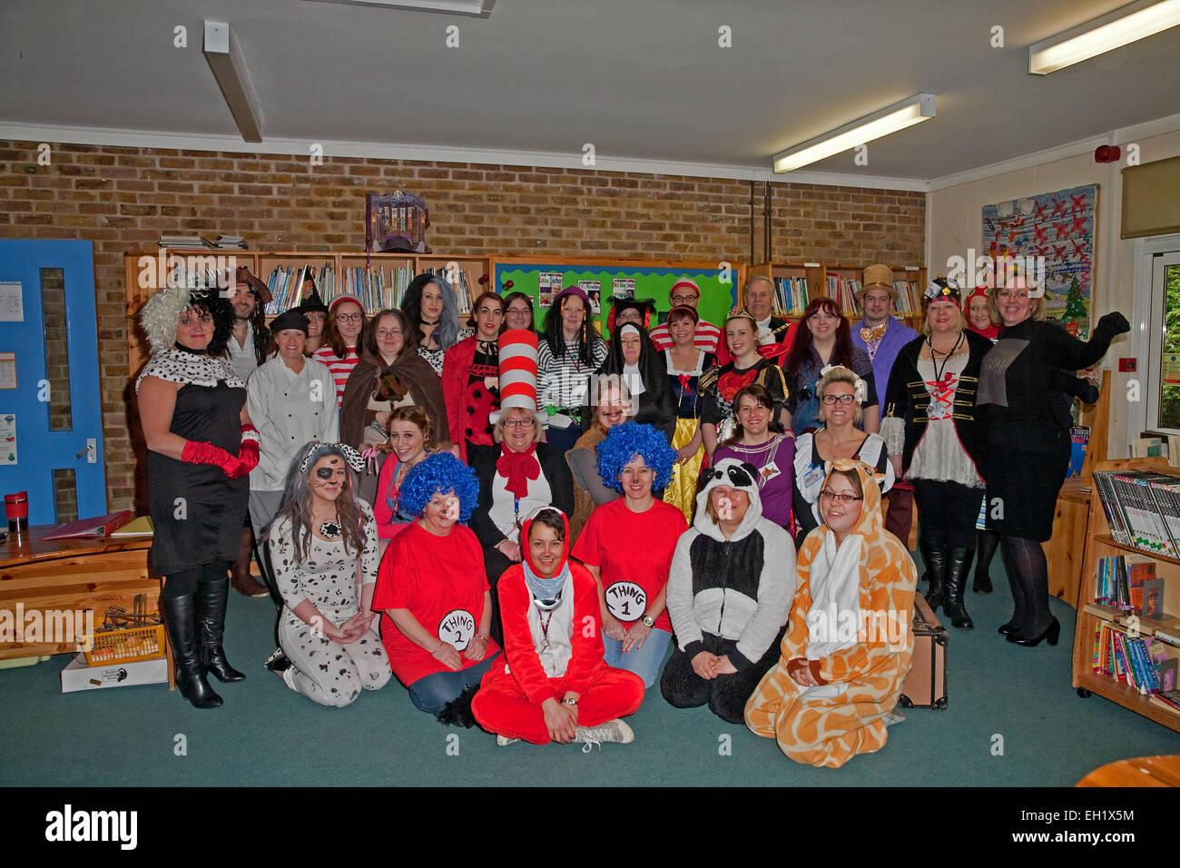 Teachers dress up for World Book Day 2015 at Biggin Hill ...