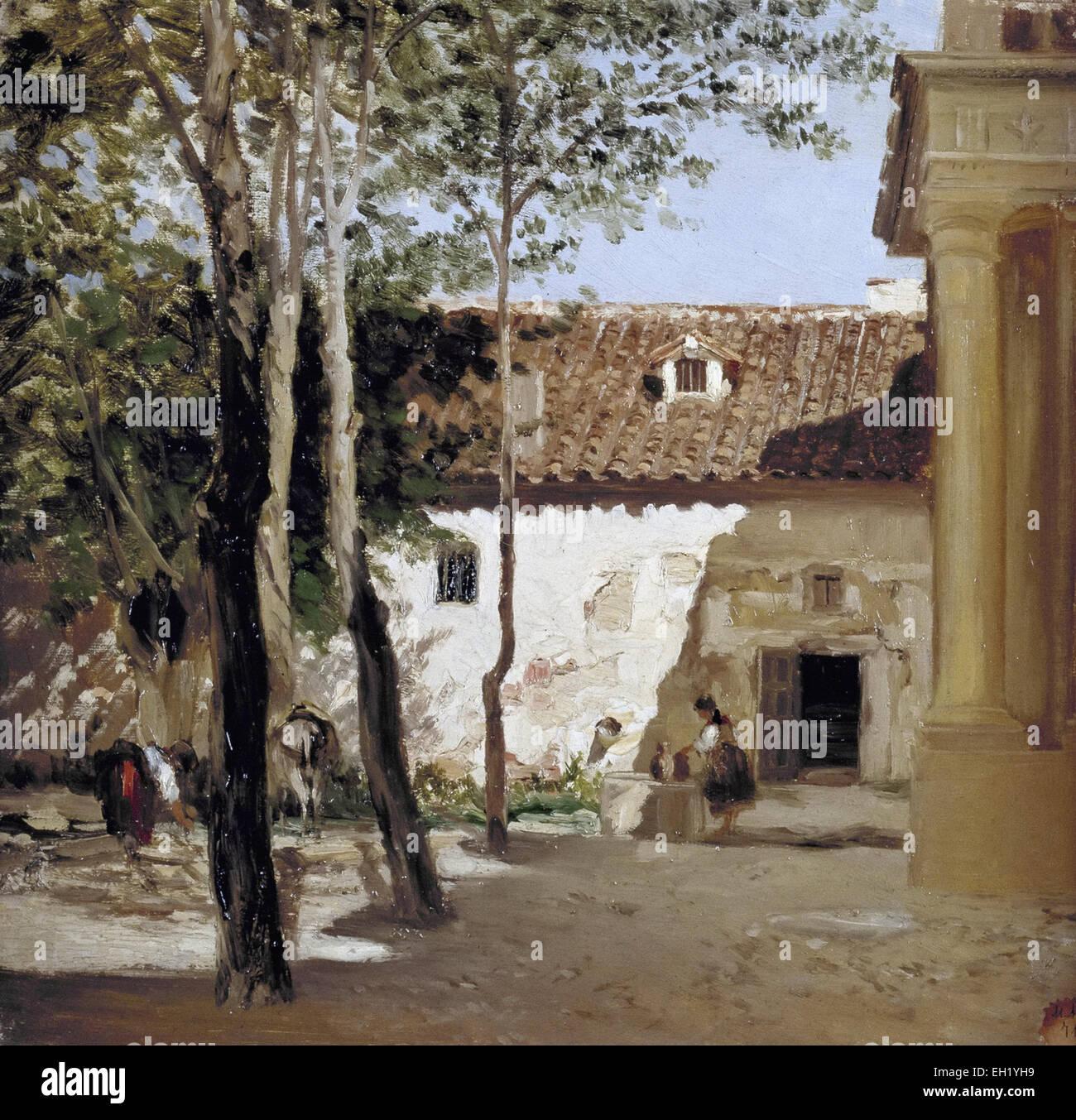 Carlos De Haes Patio Del Monasterio De Piedra