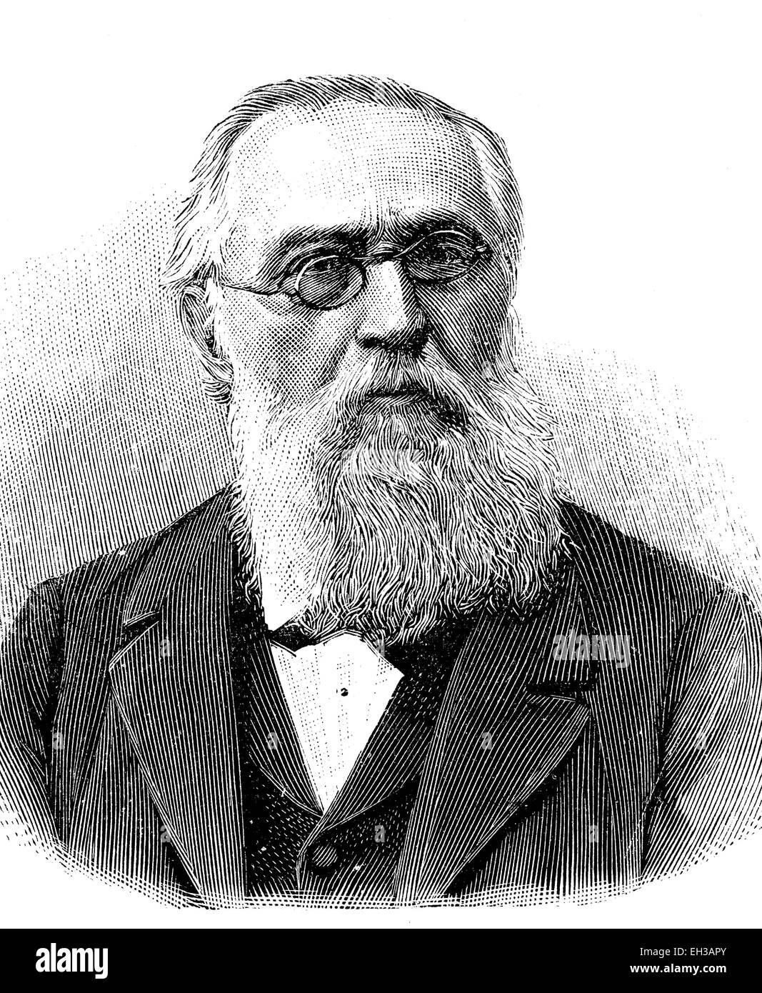 Carl Philipp Euler, 1828 - 1901, German gymnastics teacher and writer, wood engraving - carl-philipp-euler-1828-1901-german-gymnastics-teacher-and-writer-EH3APY