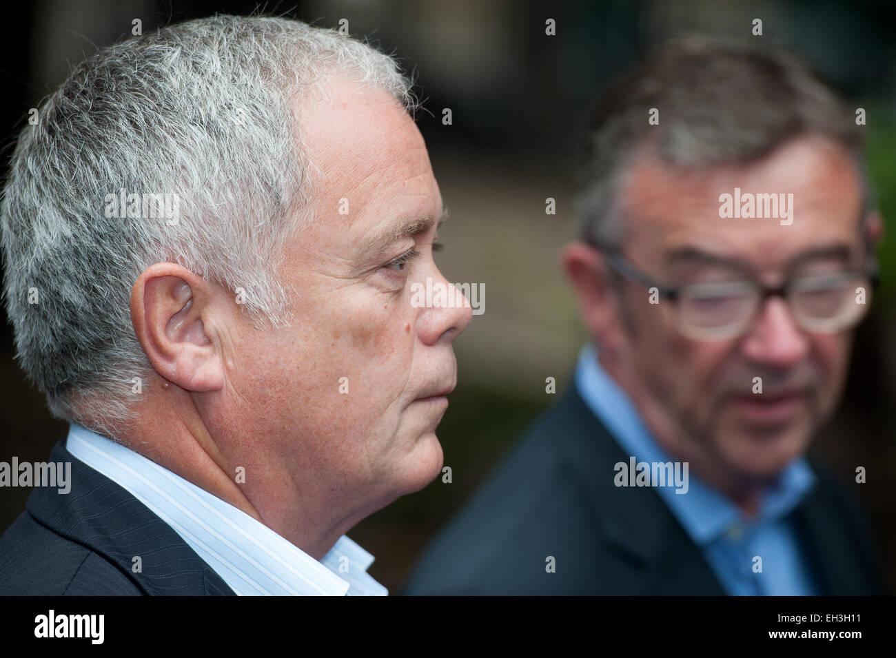 Former Royal Household manager Ron Harper arrives at Southwark