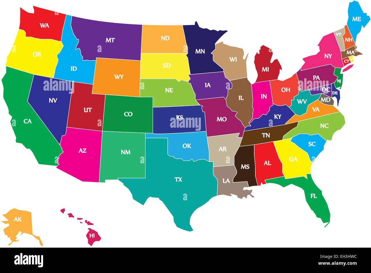 Uncategorized Color In Usa Map color usa map with states and borders stock vector art borders