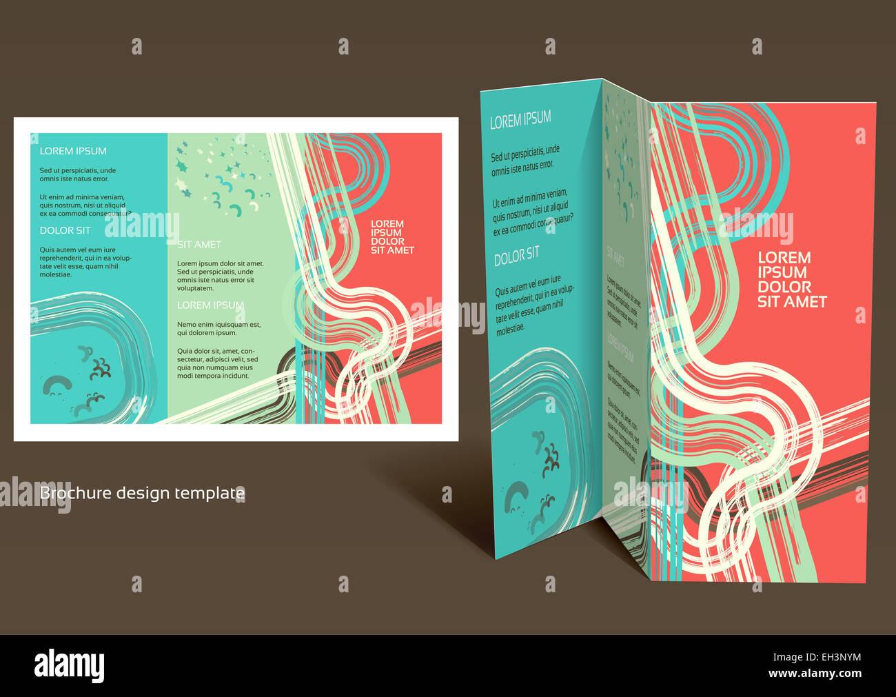 Brochure Booklet Zfold Layout Editable Design Template EPS - Brochure booklet templates