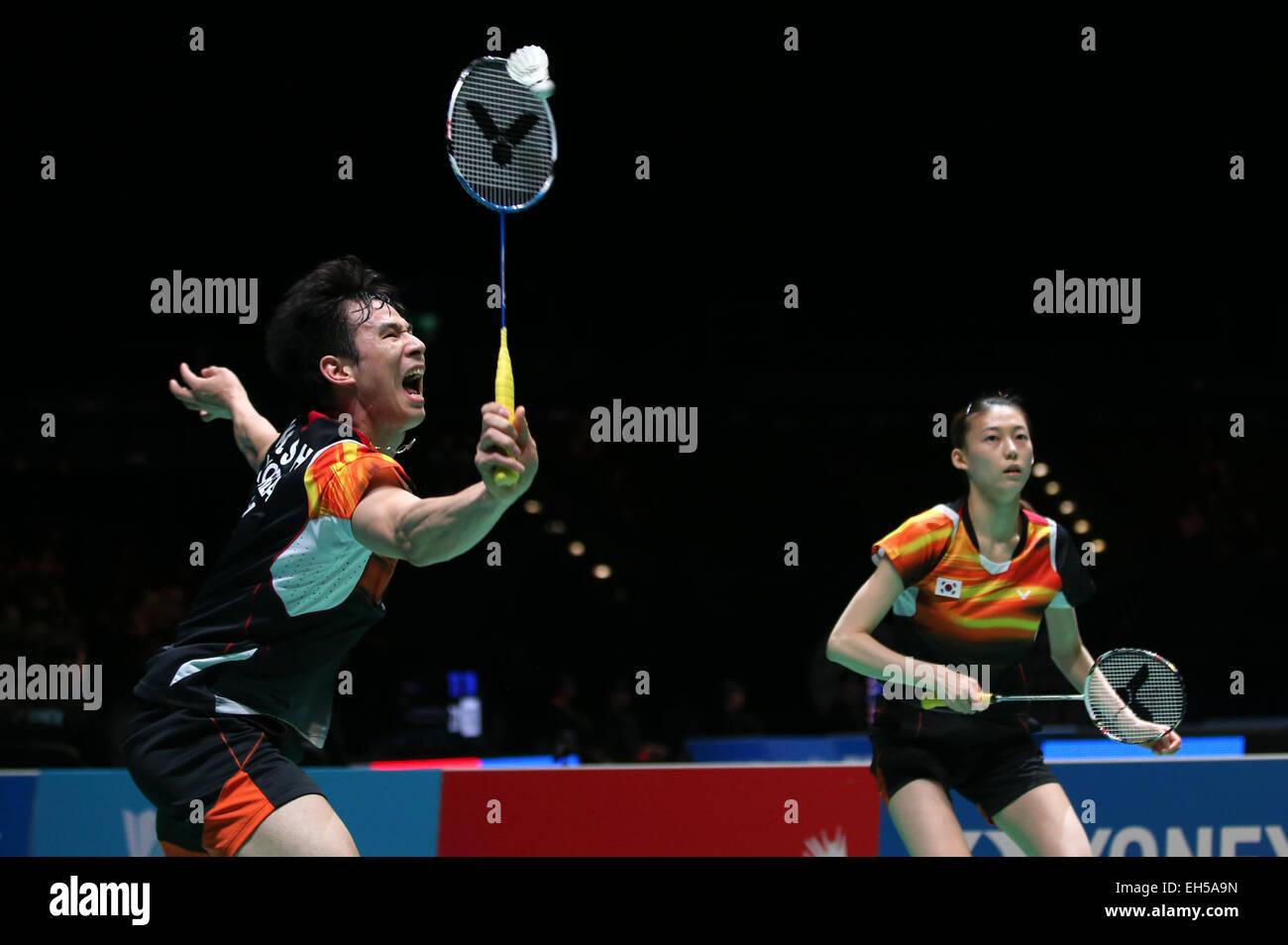 Birmingham Britain 6th Mar 2015 Ko Sung Hyun L and Kim Ha Na
